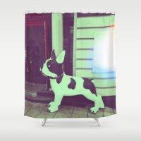 puppy Shower Curtains featuring Puppy by Karolis Butenas