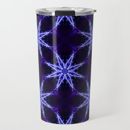 Repetitive pattern of stars. Abstract Christmas-looking background Travel Mug