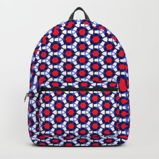 Red & Blue Pattern Backpack