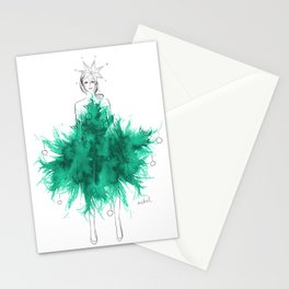 Christmas Tree Fashion Stationery Cards