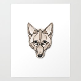 Edges (Coyote) Art Print