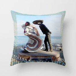 Puerto Vallarta, Mexico Sculpture by the Sea Throw Pillow
