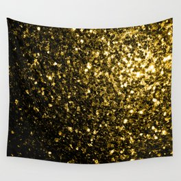 Beautiful Yellow Gold sparkles Wall Tapestry