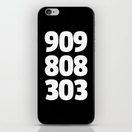 909/808/303 Dance Music Quote iPhone Skin