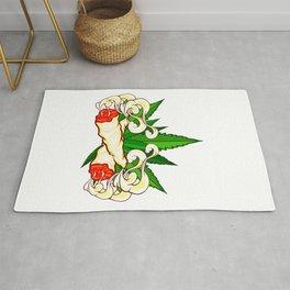 Marijuana graphic for Cannabis Smoker With Fun Joint Design Rug