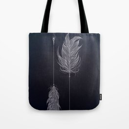 ..and then whats left is your arrow. Tote Bag