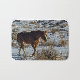 Winter Horse Bath Mat