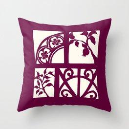 pomegranates and wrought iron Throw Pillow