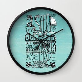 A Ship in Port Wall Clock