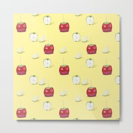 Toffee Apples Pattern Metal Print