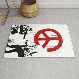 Soldiers Painting Peace Symbol, Banksy, Streetart Street Art, Grafitti, Artwork, Design For Men, Wom Rug