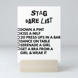 Sag Dare List Mini Art Print
