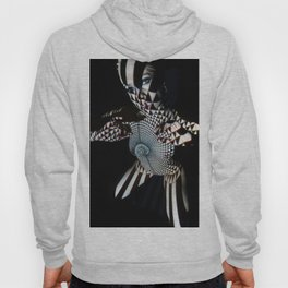 0569- Nude Female Geometric Black White Naked Body Abstracted Sensual Sexy Erotic Art Hoody