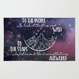 To the people who look the stars and wish... Rug