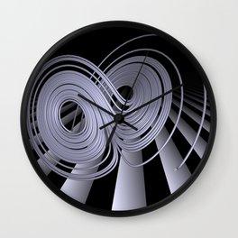 black-and-white - Lorenzattractor -2- Wall Clock