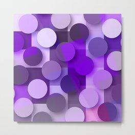 squares & dots violet Metal Print