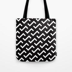 Black & white S shape pattern Tote Bag