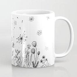 Floral Garden Doodle Art Coffee Mug