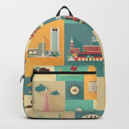 San Francisco Landmarks Backpack