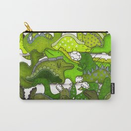 Green Dinosaur Gradient Carry-All Pouch