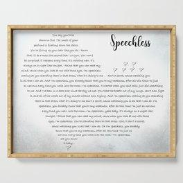 Speechless | Dan + Shay Inspired Lyric Art Print, Song Lyrics Poster, Song Lyrics Wall Art, Son Serving Tray