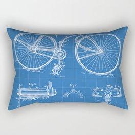 Bicycle Patent - Cyclling Art - Blueprint Rectangular Pillow