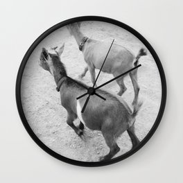pet goats Wall Clock