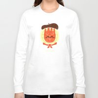 french Long Sleeve T-shirts featuring French Companion by Teo Zirinis