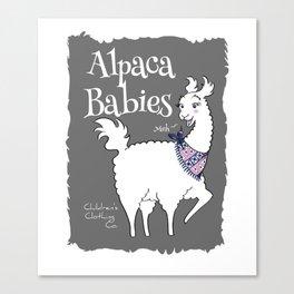 Alpaca Babies Canvas Print