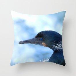 Brandt's Cormorant Throw Pillow