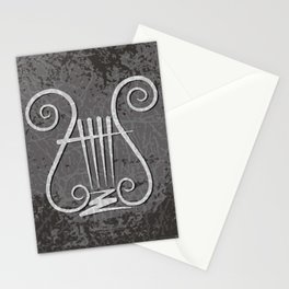 Black Lyre Stationery Cards