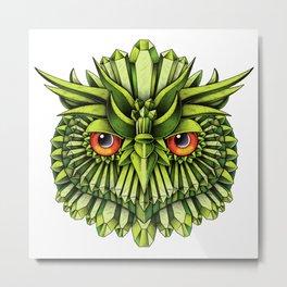 Crystal Owl EDC Metal Print