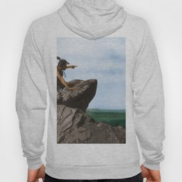 Watching The Herd - American Indians Hoody