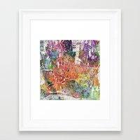 london map Framed Art Prints featuring London map  by mark ashkenazi