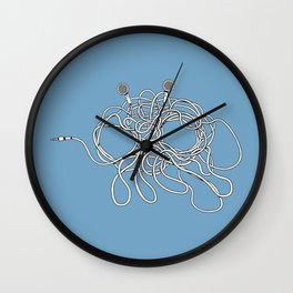His Wiry Appendage Wall Clock