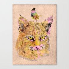 Cat&Bird 2 Canvas Print