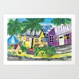 Homes, Sweet Island Homes Art Print