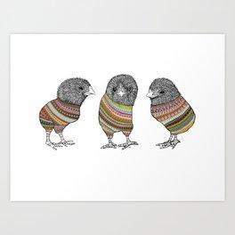 Baby chicken knit Art Print