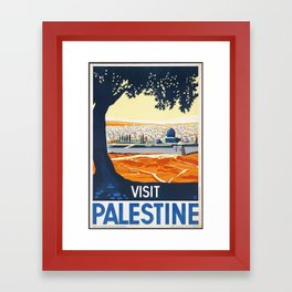 Visit PALESTINE Framed Art Print