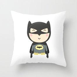 Bat-kid Throw Pillow