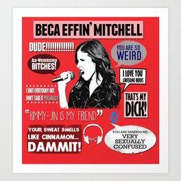 Beca Mitchell - Anna Kendrick - Pitch Perfect Art Print