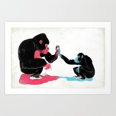Monkey See Monkey Do Art Print
