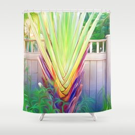 Palm Fronds Fanning Shower Curtain