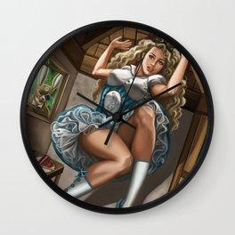 Steampunk Alice in Wonderland Drink Me Wall Clock
