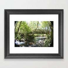 Bridal Veil Falls OR Forest Bridge Framed Art Print