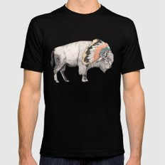 White Bison Black MEDIUM Mens Fitted Tee