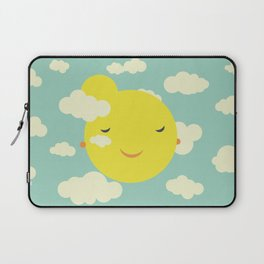 Miss Sunshine in clouds Laptop Sleeve