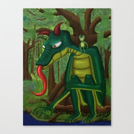 Tom Waits... Canvas Print