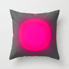 Hot Pink & Gray Focal Point Throw Pillow