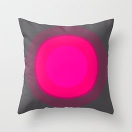 Hot Pink & Gray Focal Point Throw Pillow